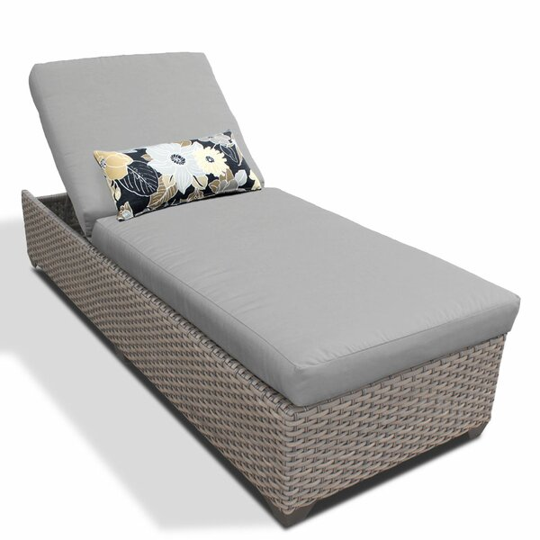 Reclining Chaise Lounge with Cushion by TK Classics