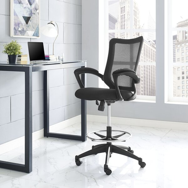 Project Mid-Back Mesh Drafting Chair by Modway