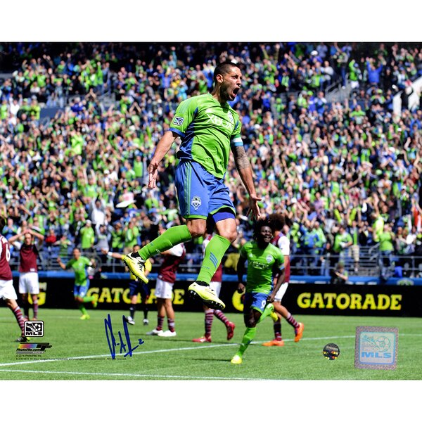 Clint Dempsey Signed Seattle Sounders Framed Photographic Print by Steiner Sports