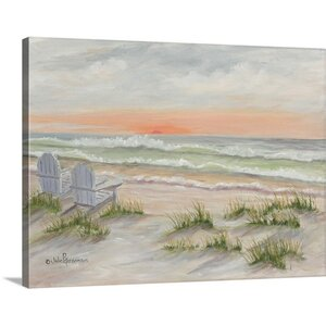 'Companions At The Ocean' by Julie Peterson Painting Print on Wrapped Canvas by Great Big Canvas