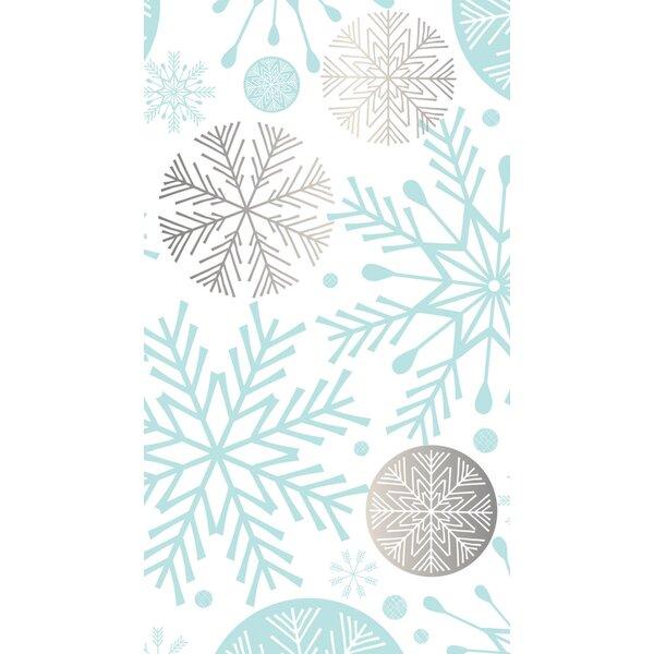Azalea Metallic Snowflakes Hand Towel (Set of 15) by Winston Porter