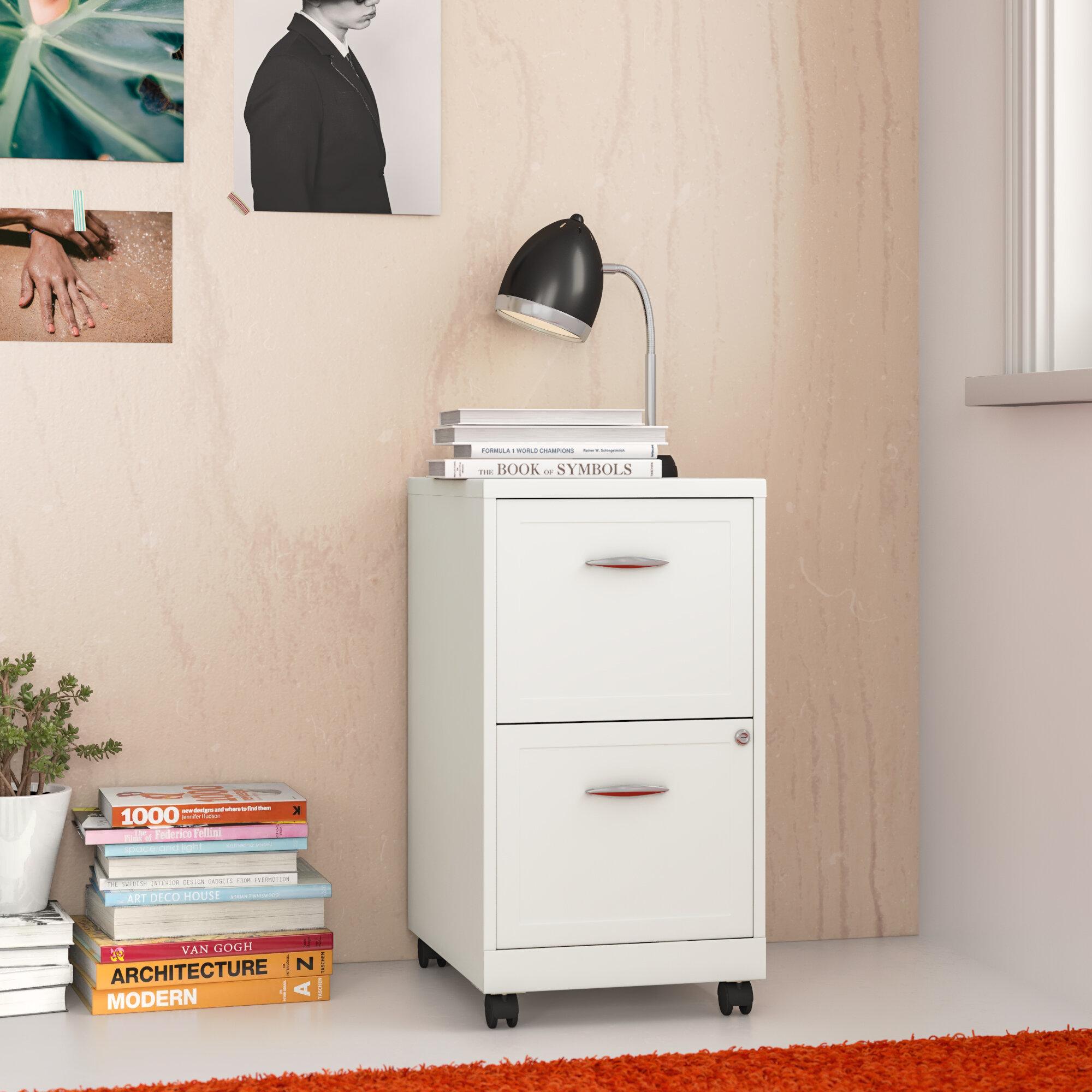 Zipcode Design Gigi 2 Drawer Mobile Vertical Filing Cabinet