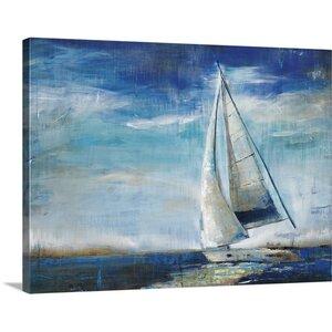 'Sail Away Canvas Art, Liz Jardine,' by Liz Jardine Painting Print on Canvas by Canvas On Demand
