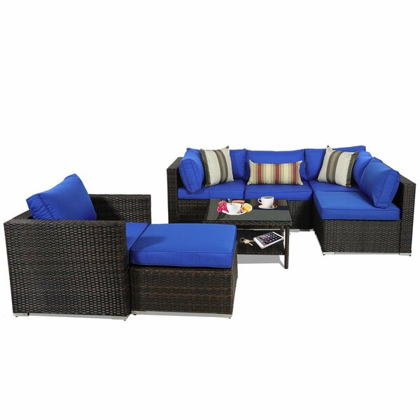 Delima Patio Sectional with Cushions by Brayden Studio