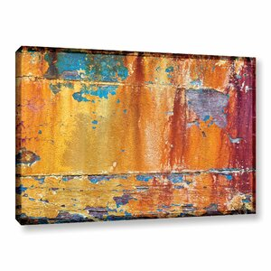 Painted Wood 2 Photographic Print on Wrapped Canvas by Loon Peak