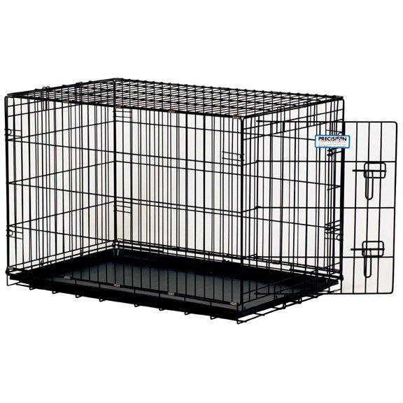 ProValu Single-Door Dog Crate in Black by Precision Pet Products