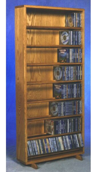 440 CD Dowel Multimedia Storage Rack By Rebrilliant