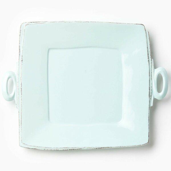 Lastra Handled Square Platter by VIETRI