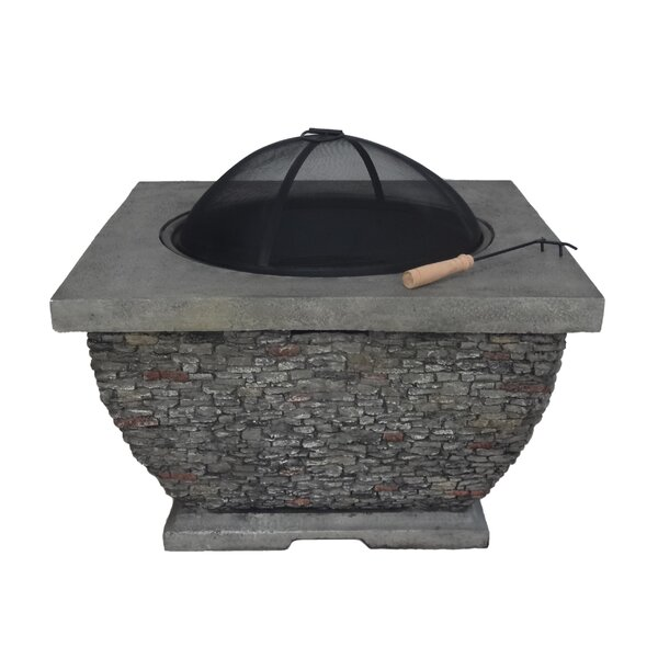 Emrich Concrete Wood Burning Fire Pit by Orren Ellis