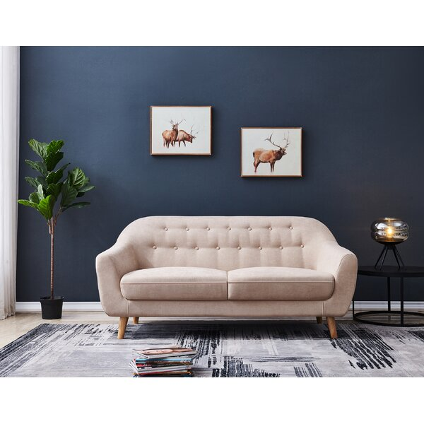 Trendy Deja Soft Modern Loveseat by Corrigan Studio by Corrigan Studio