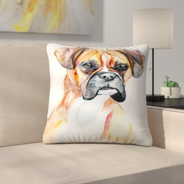 Fawn Boxer Throw Pillow by East Urban Home