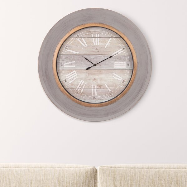 Oversized Cate 24 Wall Clock by Union Rustic