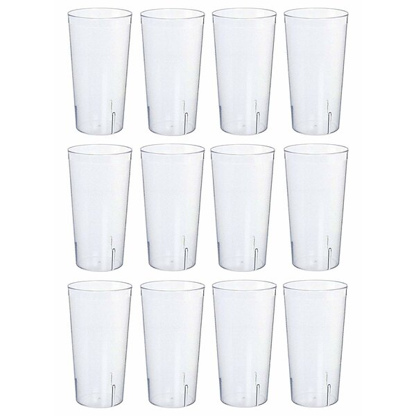 24 oz. Plastic Drinking Glass (Set of 12) by The Party Aisle