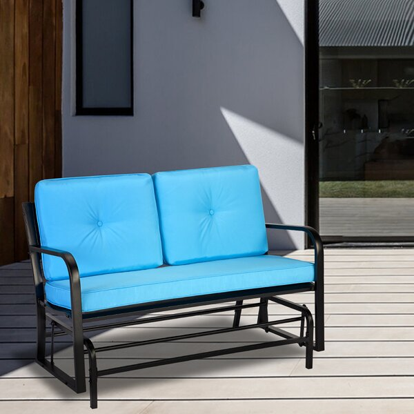Cumbola Glider Bench with Cushions by Ebern Designs