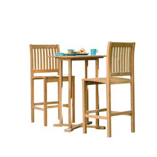 Zebedee 3 Piece Bar Height Dining Set by Breakwater Bay