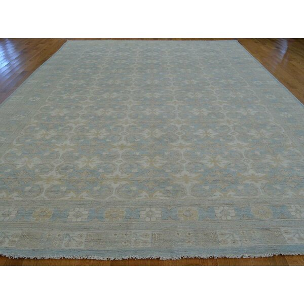 One-of-a-Kind Beauchemin Hand-Knotted Ivory Wool Area Rug by Isabelline