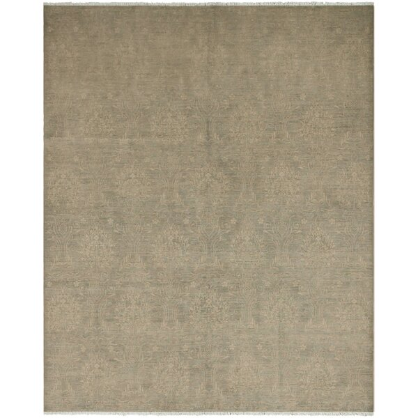One-of-a-Kind Lyle Sun-Faded Hand Knotted Wool Dark Ivory Area Rug by World Menagerie