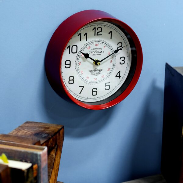 Bond Modern Round Fabric 14 Wall Clock by Astoria Grand