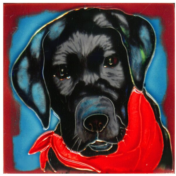 Dog 4 Tile Wall Decor by Continental Art Center