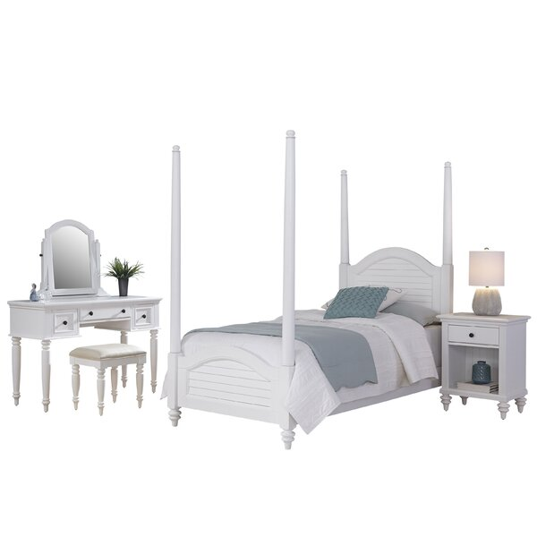 Harrison Four Poster 5 Piece Bedroom Set by Beachcrest Home