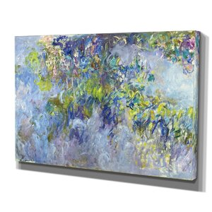 'Wisteria Claude Monet' Print of Painting on Wrapped Canvas by Wexford Home