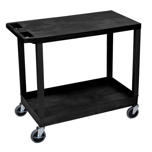 E Series Utility Cart with 1 Tub and 1 Flat Shelve