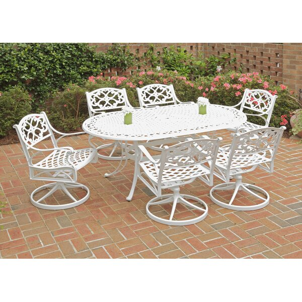 Ayleen 7 Piece Swivel Dining Set by August Grove
