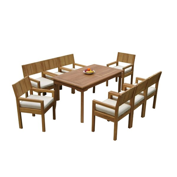 Oneridge 9 Piece Teak Dining Set by Rosecliff Heights
