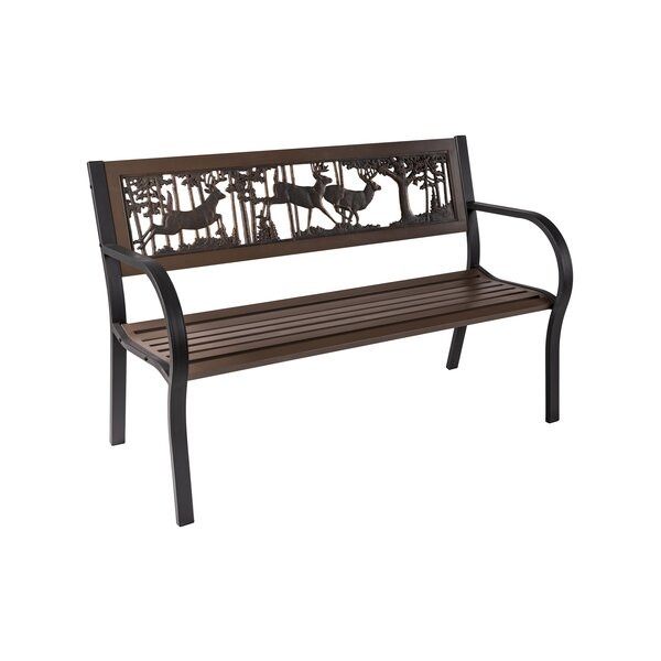 Hemenway Bucks Tube Steel Park Bench by Loon Peak