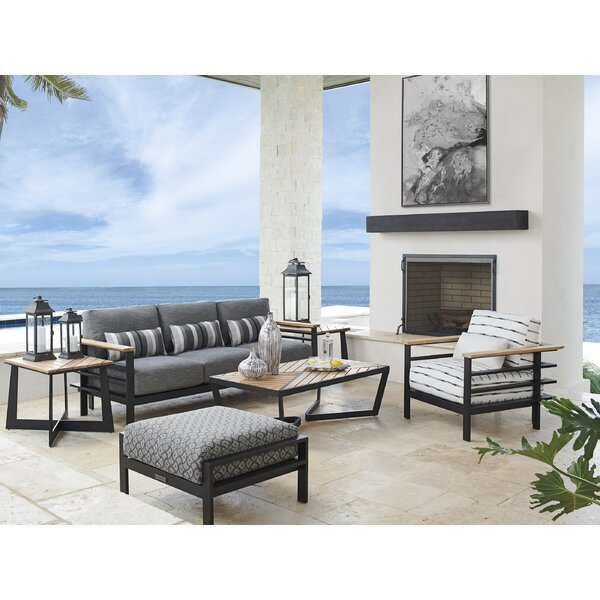South Beach 5 Piece Deep Seating Group with Cushions