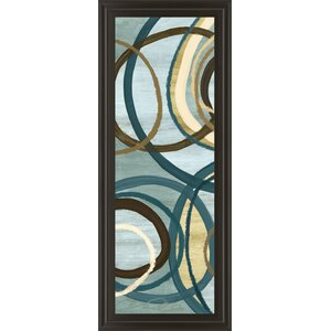 Tuesday Blue Panel I by Jeni Lee Framed Graphic Art by Classy Art Wholesalers