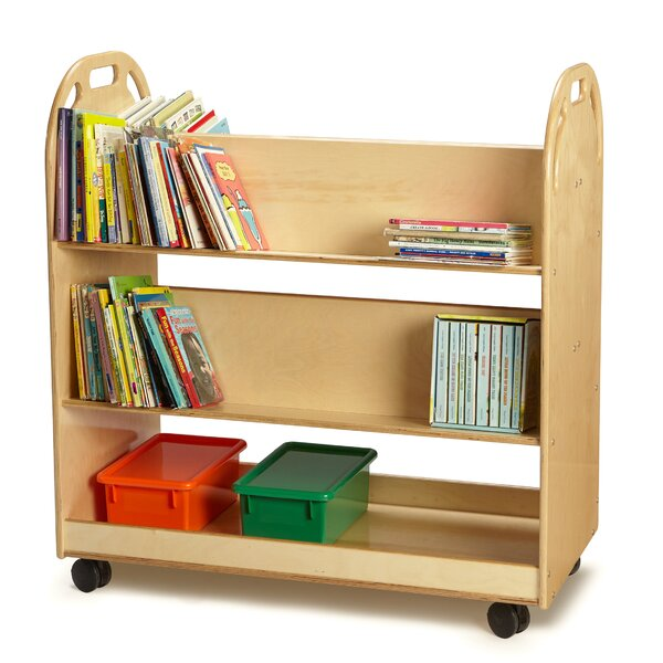 Double-Sided Sloped-Shelf Book Cart by Jonti-Craft