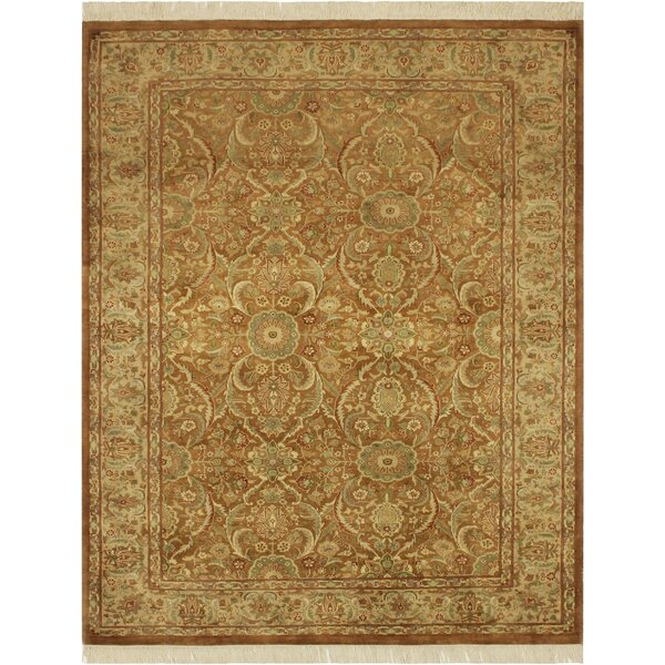 One-of-a-Kind Mcdavid Hand-Knotted Wool Light Brown/Light Tan Area Rug by Bloomsbury Market