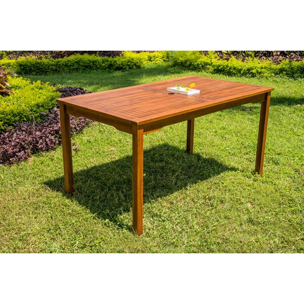 Nil Wooden Dining Table by Highland Dunes