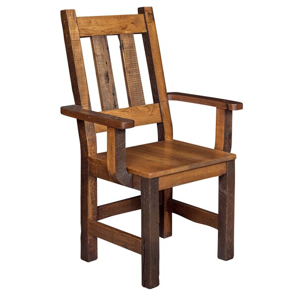 Rabon Solid Wood Armchair by Loon Peak