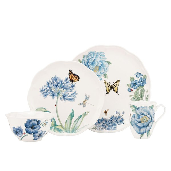 Butterfly Meadow 4 Piece Place Setting, Service for 1 by Lenox
