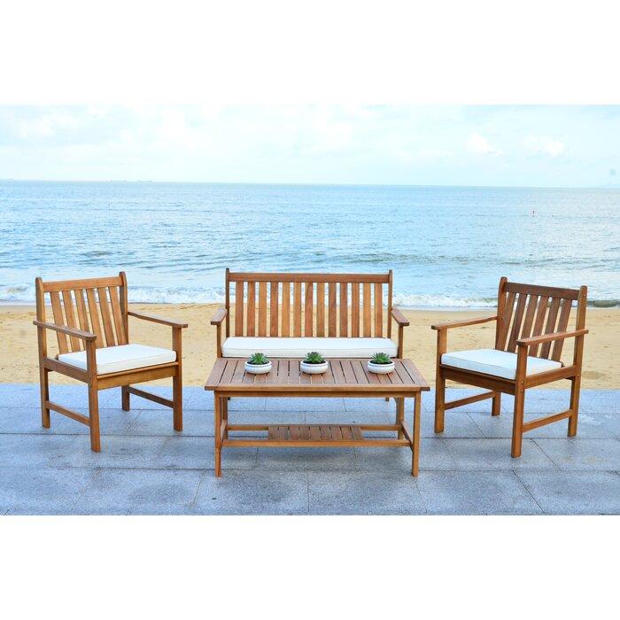 Strange Joliet 4 Piece Loveseat Seating Group With Cushions Spiritservingveterans Wood Chair Design Ideas Spiritservingveteransorg