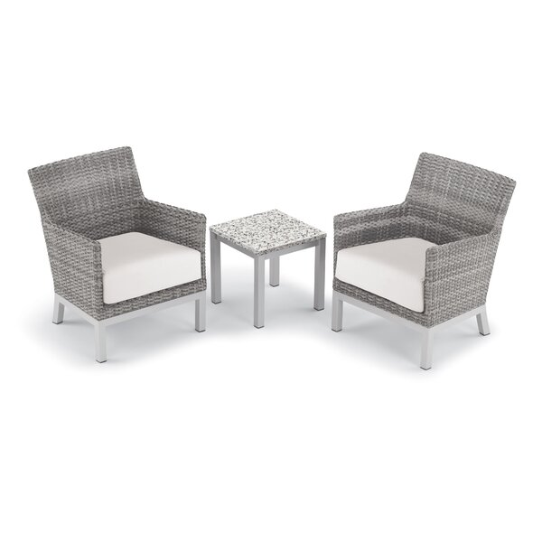Saleem 3 Piece Club Rattan Conversation Set with Cushions by Brayden Studio