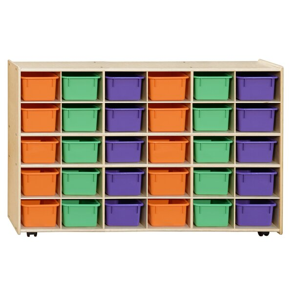 Clarendon 30 Compartment Cubby with Trays by Symple Stuff