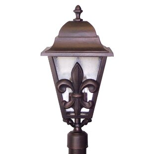 Best Reviews Penfield Fleur De Lis Series 3 Light 29 Post Lantern By Alcott Hill