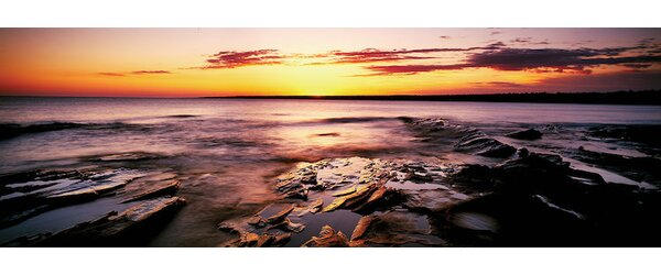 Waterscape, Porcupine Mountains Wilderness State Park, Upper Peninsula, Michigan, USA by Panoramic Images Photographic Print on Wrapped Canvas by East Urban Home