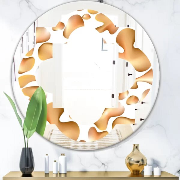 Quatrefoil Liquid I Modern Frameless Wall Mirror