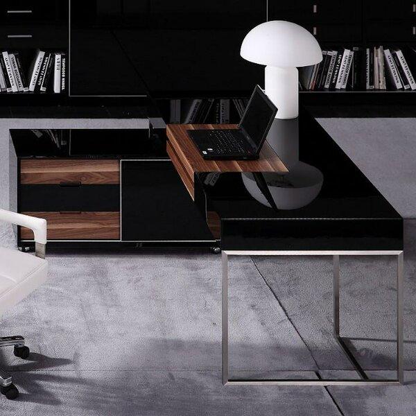 Erwon Steel Computer Desk by Wade Logan