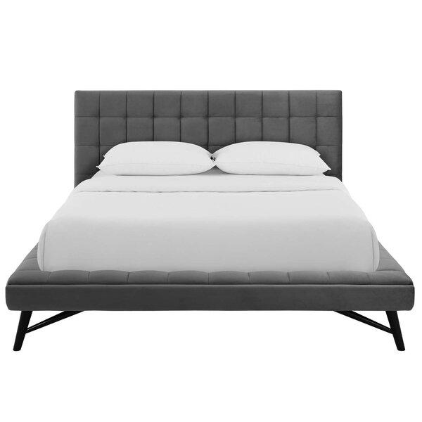 Burbank Biscuit Tufted Queen Upholstered Platform Bed by Brayden Studio