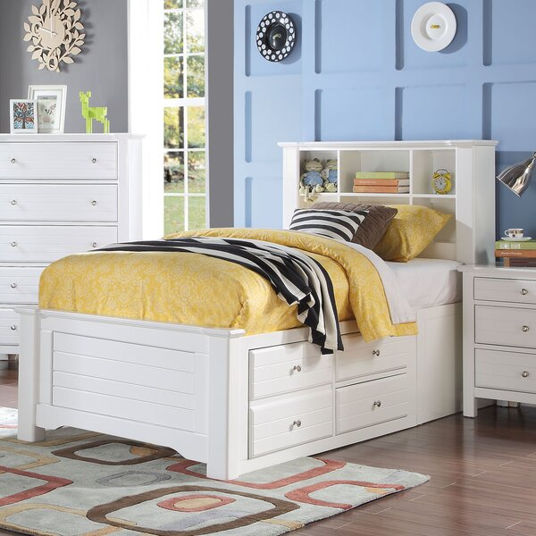 Saylor Platform Bed with Bookcase and Drawers by Harriet Bee