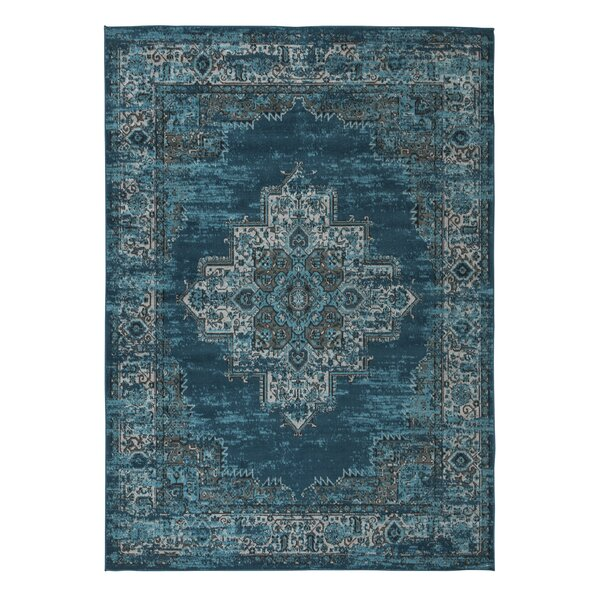 Hemel Blue/Teal Area Rug by Bungalow Rose
