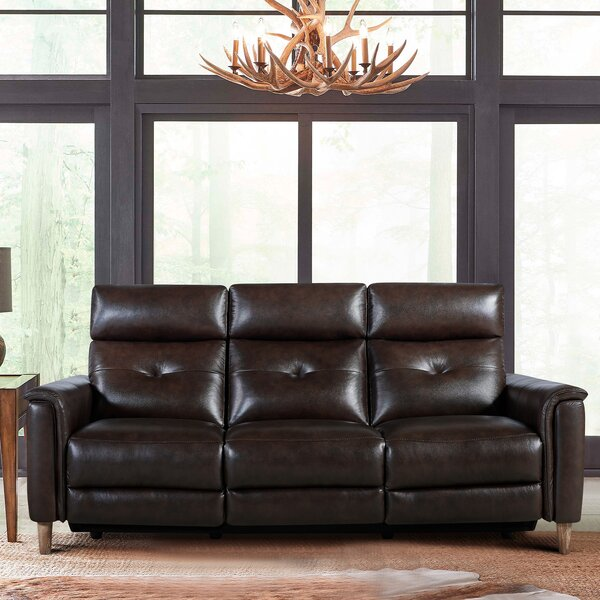 Expert Reviews Yoshioka Leather Reclining Sofa by Red Barrel Studio by Red Barrel Studio