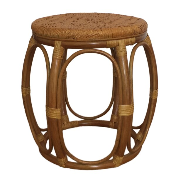 Larry Rattan Wicker Garden Stool by Rattan Wicker Home Furniture