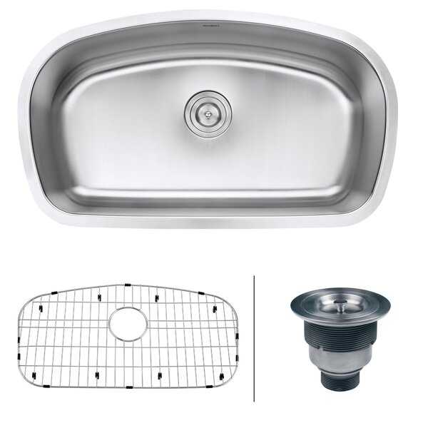 Parmi 32 L x 19 W Undermount Kitchen Sink by Ruvati