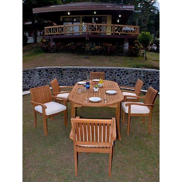 Goethe Luxurious 7 Piece Teak Dining Set by Rosecliff Heights